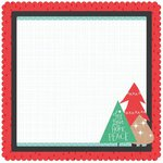 Kaisercraft - Holly Jolly Collection - Christmas - 12 x 12 Die Cut Paper - Pine