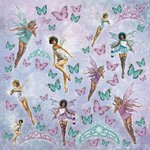 Kaisercraft - Fairy Dust Collection - 12 x 12 Paper with Foil Accents - Flutter