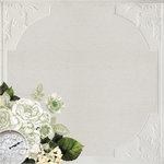 Kaisercraft - Provincial Collection - 12 x 12 Paper with Glossy Accents - Ceiling Rose