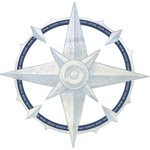 Kaisercraft - Sail Away Collection - 12 x 12 Die Cut Paper - Compass