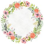 Kaisercraft - True Love Collection - 12 x 12 Die Cut Paper - Wreath