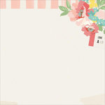 Kaisercraft - Finders Keepers Collection - 12 x 12 Paper with Glossy Accents - Floral Ticket