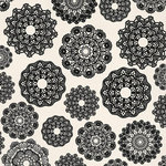 Kaisercraft - Always and Forever Collection - 12 x 12 Paper with Glossy Accents - Crochet Doilies