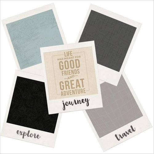 Kaisercraft - Just Landed Collection - 12 x 12 Die Cut Paper - Polaroids