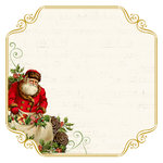 Kaisercraft - Silent Night Collection - Christmas - 12 x 12 Paper with Foil Accents - Santa List