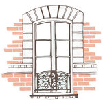 Kaisercraft - Ooh La La Collection - 12 x 12 Die Cut Paper - Window