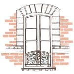Kaisercraft - Ooh La La Collection - 12 x 12 Die Cut Paper - Window