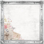 Kaisercraft - P.S. I Love You Collection - 12 x 12 Die Cut Paper - Ornate Frames