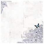 Kaisercraft - Indigo Skies Collection - 12 x 12 Die Cut Paper with Foil Accents - Choose Happiness
