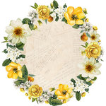 Kaisercraft - Golden Grove Collection - 12 x 12 Die Cut Paper - Orchard