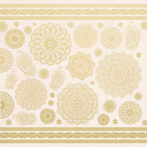 Kaisercraft - Bombay Sunset Collection - 12 x 12 Paper with Foil Accents - Indian Summer