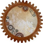 Kaisercraft - Factory 42 Collection - 12 x 12 Die Cut Paper - Cog and Pulleys