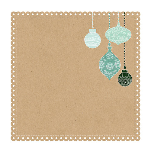 Kaisercraft - Mint Wishes Collection - Christmas - 12 x 12 Die Cut Paper - Gingerbread Cookie