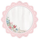 Kaisercraft - Rose Avenue Collection - 12 x 12 Die Cut Paper - Lace Frame