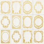 Kaisercraft - Romantique Collection - 12 x 12 Paper with Foil Accents - Gold Frames