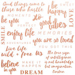Kaisercraft - Misty Mountains Collection - 12 x 12 Paper with Foil Accents - Be You Quotes