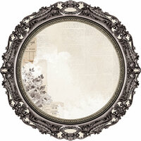 Kaisercraft - Pen and Ink Collection - 12 x 12 Die Cut Paper - Round Frame