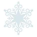 Kaisercraft - Wonderland Collection - Christmas - 12 x 12 Die Cut Paper - Snowflake