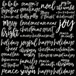 Kaisercraft - Peace and Joy Collection - Christmas - 12 x 12 Paper with Glossy Accents - Joyful