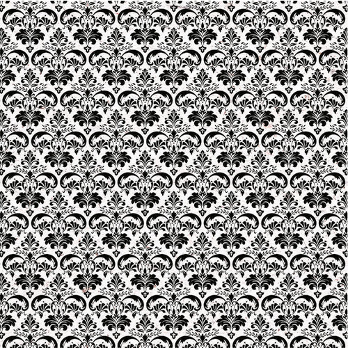 Kaisercraft - Everlasting Collection - 12 x 12 Paper with Flocked Accents - Damask