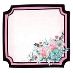 Kaisercraft - Blessed Collection - 12 x 12 Die Cut Paper - Floral Frame