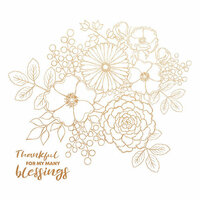 Kaisercraft - Blessed Collection - 12 x 12 Paper with Foil Accents - Bouquet