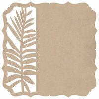 Kaisercraft - Whisper Collection - 12 x 12 Die Cut Paper - Fern Bracket