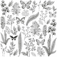 Kaisercraft - Whisper Collection - 12 x 12 Acetate Paper - Flora and Fauna