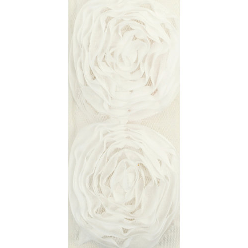Kaisercraft - Ribbon - Roses - Large - White
