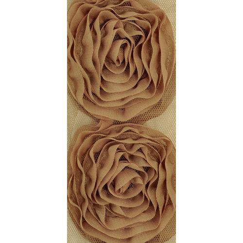 Kaisercraft - Ribbon - Roses - Large - Coffee