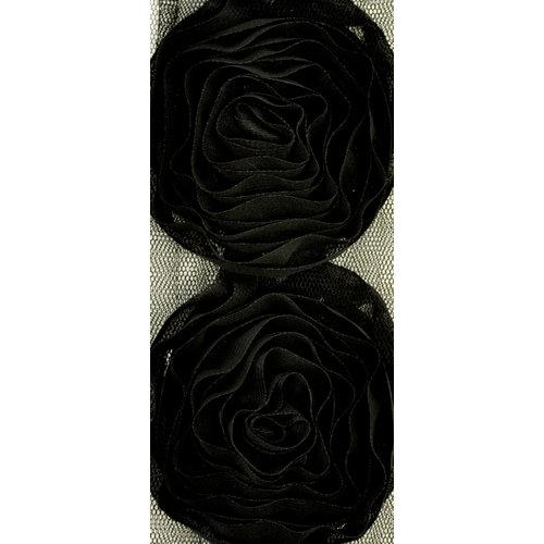 Kaisercraft - Ribbon - Roses - Large - Black