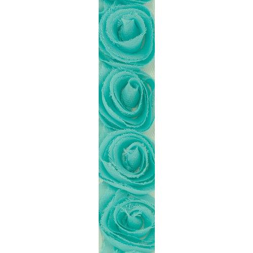 Kaisercraft - Ribbon - Roses - Sea Breeze