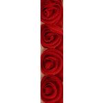 Kaisercraft - Ribbon - Roses - Maroon