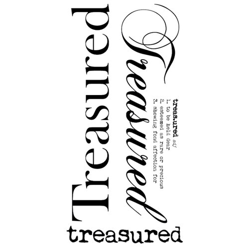 Kaisercraft - Rub Ons - Word - Treasured