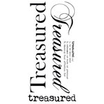 Kaisercraft - Rub Ons - Word - Treasured