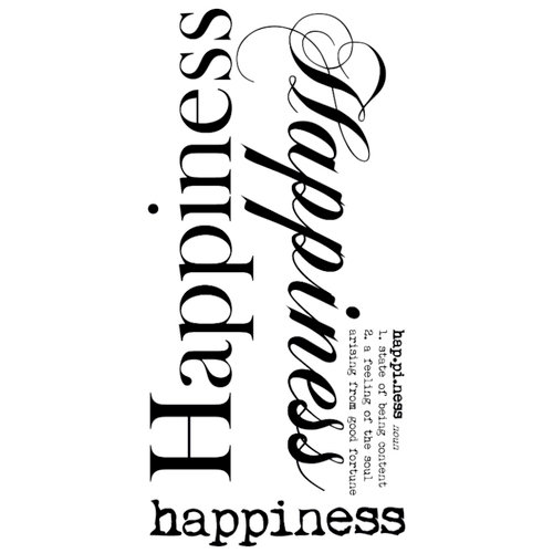 Kaisercraft - Rub Ons - Word - Happiness