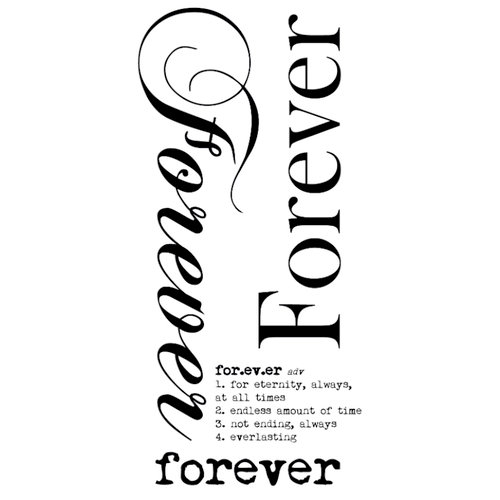 Kaisercraft - Rub Ons - Word - Forever