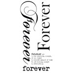 Kaisercraft - Rub Ons - Word - Forever