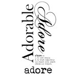 Kaisercraft - Rub Ons - Word - Adore
