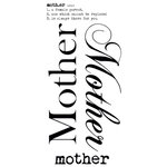 Kaisercraft - Rub Ons - Word - Mother