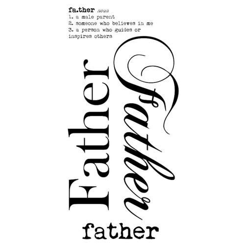 Kaisercraft - Rub Ons - Word - Father