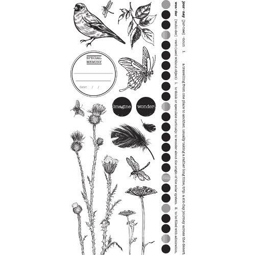 Kaisercraft - Secret Bird Society Collection - Rub Ons - Black