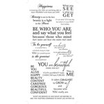 Kaisercraft - Rub Ons - Inner Self Phrases - Black