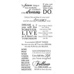 Kaisercraft - Rub Ons - Dreams Phrases - Black