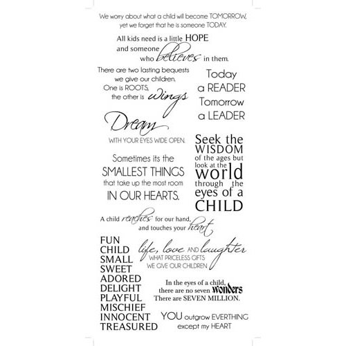 Kaisercraft - Rub Ons - Childhood Phrases - Black