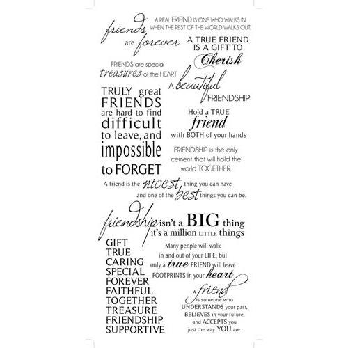 Kaisercraft - Rub Ons - Friendship Phrases - Black
