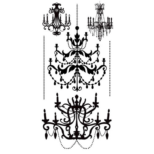 Kaisercraft - Timeless Collection - Rub Ons - Chandeliers