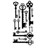Kaisercraft - Timeless Collection - Rub Ons - Keys