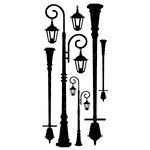 Kaisercraft - Timeless Collection - Rub Ons - Lamp Posts