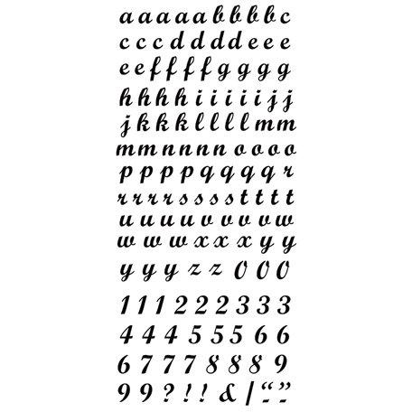 Kaisercraft - Rub Ons - Script Alphabet